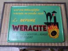 Tin advertising sign - Le Défumé Weracite - 1965
