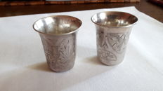 Two ritual cups - with the initials of the artist (M E Z) - Russia, Moscow - 2nd half of the 19th century
