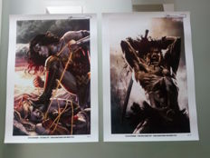 2 x Lee Bermejo Signed Lithographs - Conan / Wonder Woman - Limited To 25 Prints!