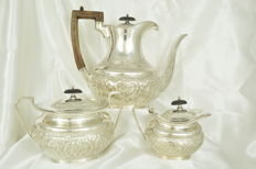 Sterling silver tea service, United Kingdom, Sheffield, 1898
