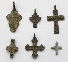 6 Medieval & Early Medieval crosses