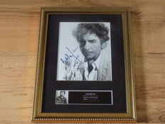 Bob Dylan signed ( printed ) framed photograph.