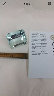 Aquamarine – Green-Blue – 90.21ct