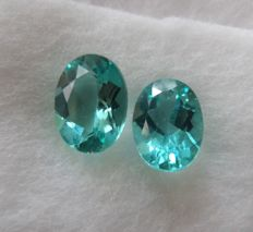 Greenish Blue Apatite Matching Pair– 2.43 ct