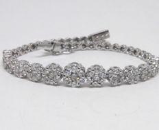 Women's bracelet set with diamonds - 5.50 ct in total
