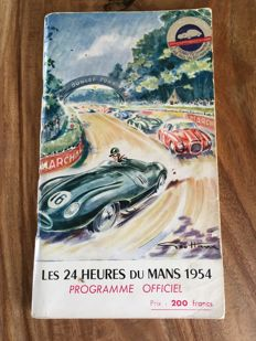 Original program of the 24 hours of Le Mans, 1954