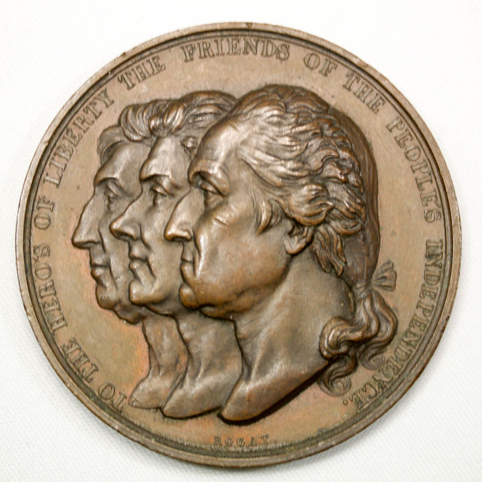 Medal 1834 'Washington, Koskiusco, and LaFayette' - bronze