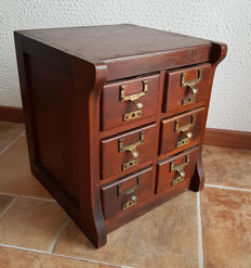 Special old small filing cabinet - 1st half of 20th century