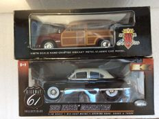 Highway 61 /  Motor City Classics - Scale 1/18 -  Kaiser Manhattan 1953 & Ford Woody Wagon 1949