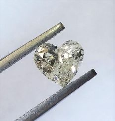 GIA - Beautiful Heart Brilliant Cut Diamond 1.05 Carat - I2 Clarity  - Only Laser Drilled - Original Image