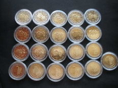 Europe – 21x 2 euro – Netherlands (8 coins) + Finland (13 coins)
