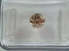 Brilliant cut diamond 0.74ct. Light brown I1 with IGI certificate
