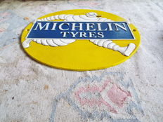 cast iron michelin tyres advertising sign