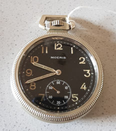 6.  Moeris - military pocket watch - small seconds - Switzerland 1940