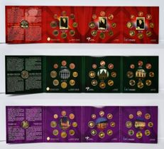 Benelux – Coins sets, 2004, 2005 and 2006.