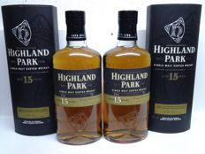 2 bottles - Highland Park 15 years old