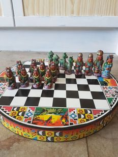 Chess set Inca theme