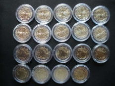France – 10 x 2 Euro coins and Italy – 9 x 2 Euro coins