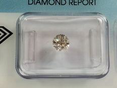 Brilliant cut diamond, 0.58ct L faint brown SI 1 with IGI certificate