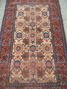 Antique Turkish hand knotted wool carpet 185cmx108cm