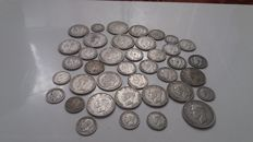 United Kingdom - 6 Pence up to and including ½ Crown 1920/1946 (39 pieces) - silver