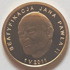 "Poland – 25 Zloty 2011 ""Pope John Paul II"" – gold."