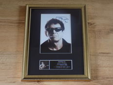 Lou Reed signed ( printed ) framed photograph.