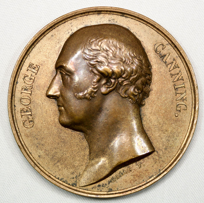 United Kingdom - Medal 1827 'George Canning' - bronze