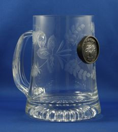 Crystal Cut Heineken Beer Mug