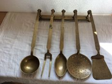 Brass 6 piece kitchen set
