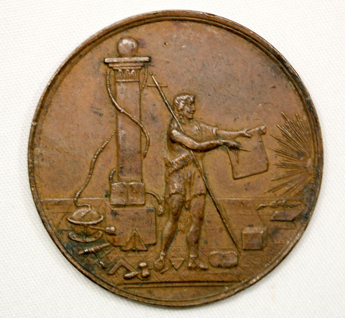 Germany - Bronze Medal - 1777, Masonic Music Medal