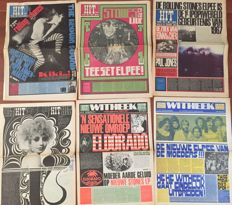 'Hitweek' magazine (Dutch) - lot with 32 unbound issues - 1966 /1969.