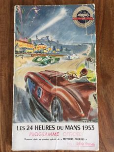 Original program of the 24 hours of Le Mans, 1953