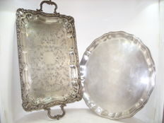 Two beautifully crafted trays