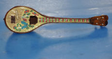 A. Molfetas Miniature of Greek Bouzouki wind up music box