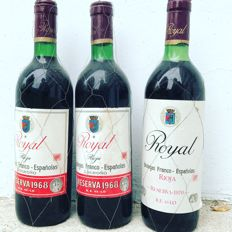 2 Royal Reserva 1968 and 1 Royal Gran Reserva 1970 (75cl)
