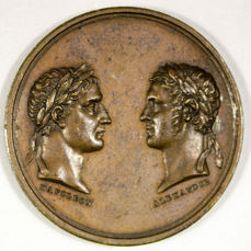 France - Medal 'Napoleon I - Congress of Erfurt 1808' (later strike) by F.W. Facius - Bronze