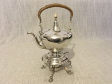 Ornate antique solid Sterling silver tea kettle on stand - USA - first half of 20th Century  925/1000