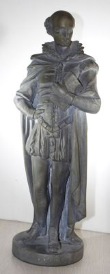 Zinc sculpture - 'le Philosophe' - France - ca. 1880