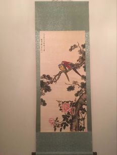 A scroll painting - China - late20th century