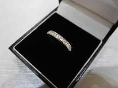 9k Gold Eternity Diamond Band Ring - 0.27ct H SI2 - size 49