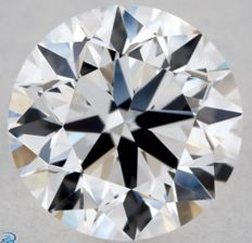 1.01CT I/VVS2 GIA Certified round brilliant cut diamond - Laser inscribed - Original image 10X