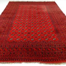 Afghan – 345 x 260 cm – XXL eye-catcher – 100% wool – oriental rug in wonderful condition.