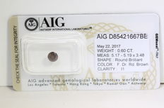 Reddish Diamond – 0.60 ct