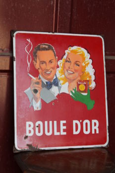 1954 - enamel sign Boule D'or