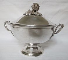French sterling silver soup-tureen, circa  1868 - 1888