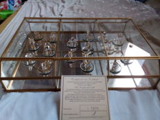 22 carat gilded precious-glass animals - with certificate!