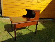 Mahogany regency style telephone table - second half 20th century