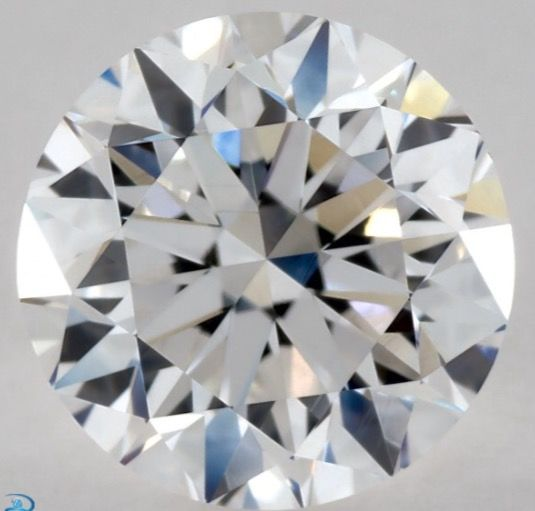 0.90CT G/SI1 GIA Certified round brilliant cut diamond - Laser inscribed - Original image 10X
