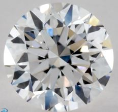 0.90CT D/VS1 GIA Certified round brilliant cut diamond - Laser inscribed - Original image 10X